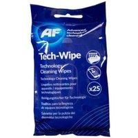 AF Tech Wipes Flat Pack PK25