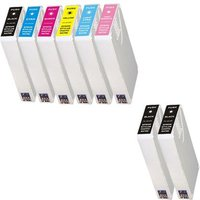 Compatible Multipack Epson Stylus Photo RX700 Printer Ink Cartridges (8 Pack) -C13T55914010