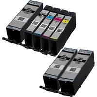 Compatible Multipack Canon Pixma TS8100 Printer Ink Cartridges (7 Pack) -1970C001