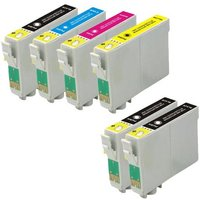 Compatible Multipack Epson Stylus Photo RX450 Printer Ink Cartridges (6 Pack) -C13T05514010