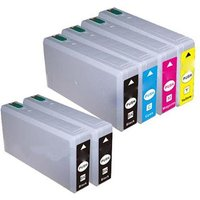 Compatible Multipack Epson 78 T7891/4 Full Set + 2 EXTRA Black Extra High Capacity Ink Cartridges (6 Pack)