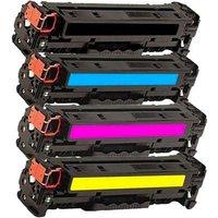 Compatible Multipack HP Colour LaserJet Pro MFP M476dn Printer Toner Cartridges (4 Pack) -CF380A
