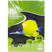 Glossy Coating 230gsm (A4) Size Photo Paper (20 Pages Per Pack)