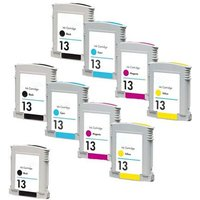 Compatible Multipack HP Business InkJet 2300dtn Printer Ink Cartridges (9 Pack) -C4815AE