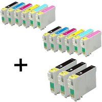 Compatible Multipack Epson Stylus Photo RX685 Printer Ink Cartridges (15 Pack) -C13T08014011