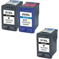 Image of Compatible Multipack HP OfficeJet 4353 Printer Ink Cartridges (3 Pack) -C9351CE