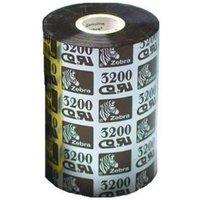 Zebra 03200BK08045 Original Wax/Resin Printer Ribbon 3200 (80mm x 450m)