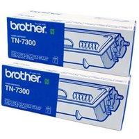 Brother Black TN7300 Original Toners Twin Pack (2 Pack)