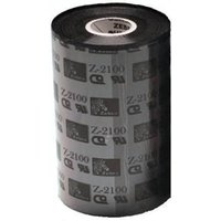 Zebra 02100BK15645 Original Wax Printer Ribbon 2100 (156mm x 450m)