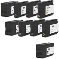 Compatible Multipack HP OfficeJet Pro 8718 Printer Ink Cartridges (9 Pack) -L0S70AE