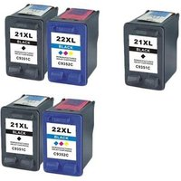 Compatible Multipack HP Fax 1250 Printer Ink Cartridges (5 Pack) -C9351CE