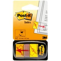Post-it Index Flags 25mm Sign Here 50 Tabs Red