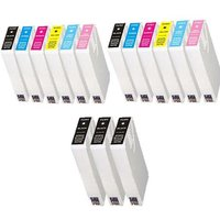 Compatible Multipack Epson Stylus Photo RX700 Printer Ink Cartridges (15 Pack) -C13T55914010