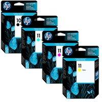 HP 10/11 Full Set Original Inks (4 Pack)