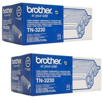 Brother Black TN3230 Original Toners Twin Pack (2 Pack)