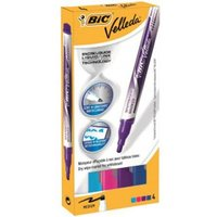 Bic Velleda Liquid Ink Whiteboard Marker Assorted (Pack 4)