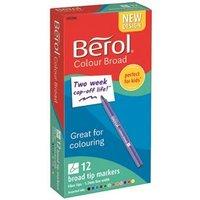 Berol Color Broad Fibre Tipped 1.7mm Assorted PK12