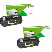Original Multipack Lexmark MX810dme Printer Toner Cartridges (2 Pack) -62D2X0E