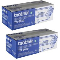 Brother Black TN6600 Original High Capacity Toners Twin Pack (2 Pack)