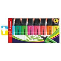 Stabilo Boss Highlighters Chisel Tip 2-5mm Line Assorted (1 x Pack of 8)