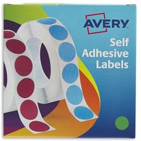 Avery Labels in Disp Round 19mm DIA Grn 24-507 (1120 Labels)