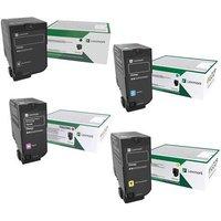 Original Multipack Lexmark CS727de Printer Toner Cartridges (4 Pack) -75B20K0