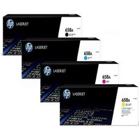 1 Full Set 658A (W2000A) Black and 1 Colour Set 658A (W2001A/02/03A ) C/M/Y Original Standard Capacity Toner Cartridge (4 Pack)