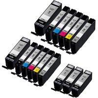 Compatible Multipack Canon Pixma TS8000 Printer Ink Cartridges (15 Pack) -0331C001
