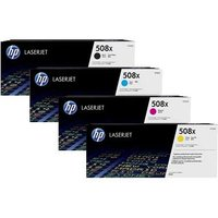 Original Multipack HP Color LaserJet Enterprise Flow MFP M577f Printer Toner Cartridges (4 Pack) -CF360X