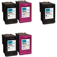 Compatible Multipack HP DeskJet Ink Advantage 2060 Printer Ink Cartridges (5 Pack) -CH563EE