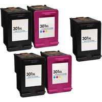 Compatible Multipack HP DeskJet 2060 Printer Ink Cartridges (5 Pack) -CH563EE