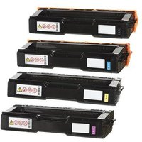 Compatible Multipack Ricoh Aficio SP C360 Printer Toner Cartridges (4 Pack) -408184