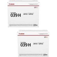 Canon 039H (0288C001) Black Original Toners Twin Pack (2 Pack)
