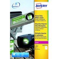 Avery Heavy Duty Labels 210x297mm WH L4775-20 1 p/sht PK20