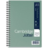 Cambridge Jotter Wirebound Notebook A5 200 pages GN PK3