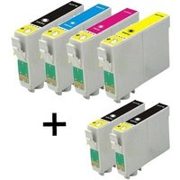 Image of Compatible Multipack Epson Stylus CX4600 Printer Ink Cartridges (6 Pack) -C13T04414010