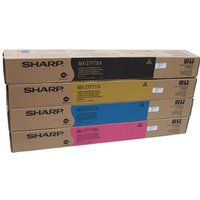 Original Multipack Sharp MX-2700N Printer Toner Cartridges (4 Pack) -MX27GTBA