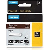 Dymo 1805418 Original Label Tape (19mmx5.5m) White On Brown