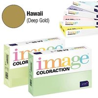 Image Coloraction Coloured Paper Gold (Hawaii) A4 160gsm (Pack of 250)