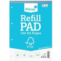 Silvine FSC A4 Refill Pad Feint Ruled 4HP 80 Sheet PK5
