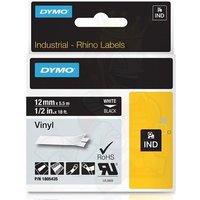 Dymo 1805435 Original Label Tape (12mmx5.5m) White On Black
