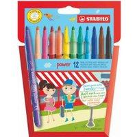 Stabilo Power Extra Long Lasting Felt Pens PK12