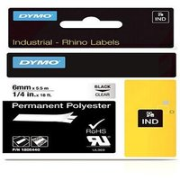 Dymo 1805440 Original Label Tape (6mm x 5.5m) Black On Clear