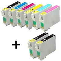 Compatible Multipack Epson Stylus Photo PX710W Printer Ink Cartridges (8 Pack) -C13T07914010