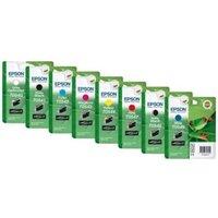 Original Multipack Epson Stylus Photo R1800 Printer Ink Cartridges (8 Pack) -C13T05434010