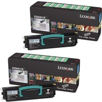 Lexmark 0E250A11E Black Original Toners Twin Pack (2 Pack)
