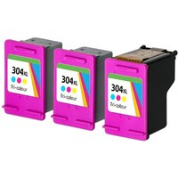 Compatible Tri-Colour HP 304XL High Capacity Ink Multipack (Replaces 3 x N9K07AE + 1 x Printhead)