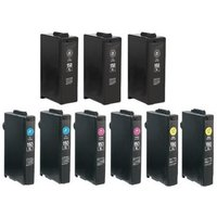 Image of Compatible Multipack Lexmark 150XL 2 Full Sets + 1 EXTRA Black Ink Cartridge (9 Pack)