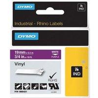 Dymo 1805421 Original Label Tape (19mmx5.5m) White On Purple
