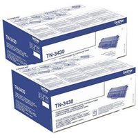 Brother Black TN3430 Original Toners Twin Pack (2 Pack)